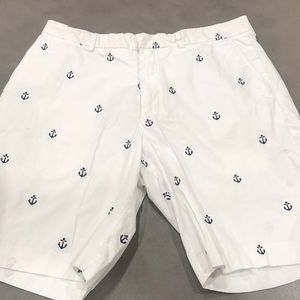 Lilly Pulitzer White Everglade Shorts / Anchors 34